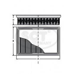 Wymiary Filtru Powietrza SB648