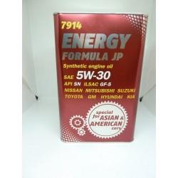 Syntetyczny Olej Energy Formula JP 5W30 (USA & Asia) 4L METAL